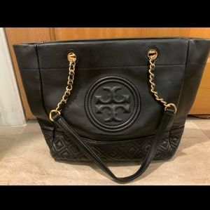 Tory Burch Leather Fleming Tote